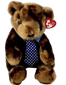 Ty Beanie Babies - Hero the brown bear with tie Beanie Buddy soft toy