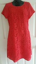 Lacey Red Dianna Ferrari Shift Dress Ladies Size 8