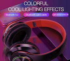 Wireless Bluetooth Headphones Foldable Stereo Earphones Headsets Mic, Super Bass