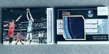 2015-16 Panini Preferred Marc Gasol Stat Line Memorabilia Book 10 /25