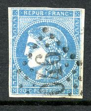 classique de France Bordeaux N° 45C Variété trait blanc traversant le timbre
