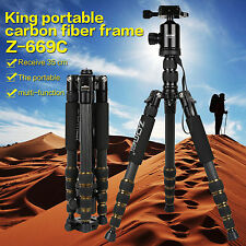 ZOMEI Z669C Professional Carbon Fiber Tripod Monopod,Ball Head for DSLR Camera