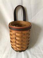 LONGABERGER BASKETS Large Gatehouse Hanging Basket Two Toned Handwoven USA 2002