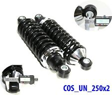 Rear Street Rod Coil Over Shock SET w/250 Pound Black Coated Springs