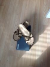 Kenneth Cole gold sandals size 4