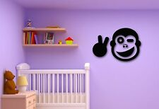 Wall Stickers Vinyl Decal Monkey Positive Animal for Kids Room Nursery (ig303)