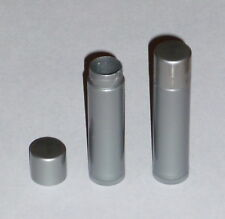 100 NEW Empty Dark Silver LIP BALM Chapstick Tubes Containers - .15 oz / 5ml