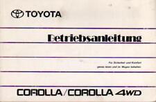 TOYOTA COROLLA 6 E90 Betriebsanleitung 1990 Bedienungsanleitung Handbuch  BA