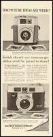 1960 vintage ad for Kodak 'electric eye' Cameras. Great for Slides!  -020512
