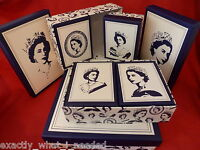 Queen Elizabeth ll Set 7 Storage Boxes Keepsake/Memory 90th Birthday Party 2016