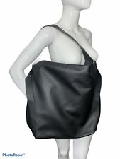 A New Day Hobo Bag Purse Black Oversized Large Pebbled Faux Leather Zip NEW