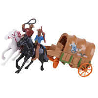 1 Set West Cowboy Country Life Cowboy with Horse Figure Model Carriage Adornment