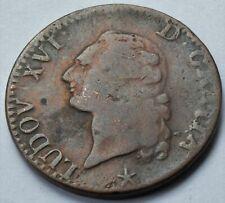 1785 FRANCE KING LOUIS XVI  SOL COIN