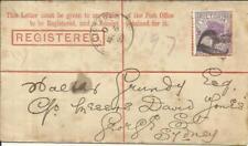 Victoria Postal Registered Envelope HG:C7 uprated SG#314c Brisbane MR/5/95