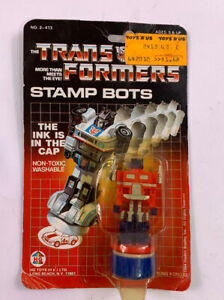 Starscream Stamp Bot NEW G1 Transformers Hasbro Bradley 1985 Vintage