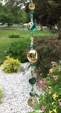 Healing Crystal Amber/Green Suncatcher W/Swarovaki Elements Light Honey Ball US