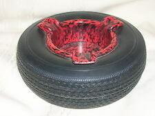"Firestone Tire Ashtray 6"" Round Kiefer McNeil Made in the USA Ashtray Insert"