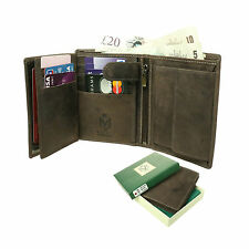 Small Bifold Genuine Credit Card/ID Holder Distressed Leather Wallet 503