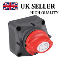 Removable Knob Marine Boat Battery Isolator Cut Off Kill Switch 12V/24V 300A UK