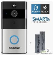 AAROUX Wireless WiFi Video Doorbell Smart Phone Intercom Security Camera Bell
