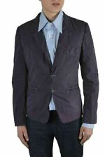 Dolce & Gabbana Men's Purple Two Button Long Sleeve Blazer Size US 38 IT 48