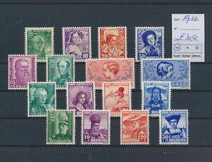 LO39416 Switzerland 1936 pro juventute fine lot MNH cv 30,5 EUR