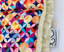 PRAM SEAT LINER GOOSEBERRY Natural Lambs Wool Universal Geometric Pattern