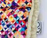 PRAM STROLLER SEAT LINER GOOSEBERRY Natural Lambs Wool Universal Geometric