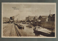1919 Crefeld Germany RPPC Postcard Cover to Brussells Belgium Neuss Canal