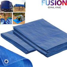 Heavy Duty Tarpaulin Blue Waterproof Strong Cover Ground Sheet Tarp 2m X 3m