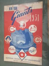 NEW YORK GIANTS 1951 official SCORE CARD - vs. DODGERS - Scored - @ Polo Grounds