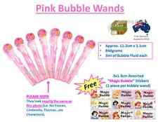 Pink bubble wand birthday party loot bag filler supplies Disney Princess Theme