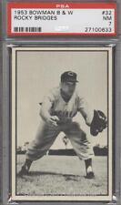 1953 Bowman B&W Rocky Bridges # 32 PSA 7