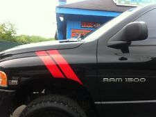 Truck car vinyl decal dodge stripes sticker hood fender ram trd chevy gmc titan