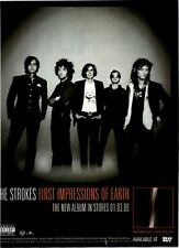 2006 Vintage 8x11 Album Promo Print Ad For The Strokes First Impression Of Earth
