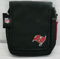 NFL Tampa Bay Buccaneers Ribbon Satchel Purse Black T3
