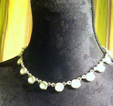 BICHE de BERE Collier - Necklace signed Tin-silver & green enamel - VINTAGE