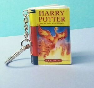 Harry Potter keyring Keychain The Order of the Phoenix Mini Book