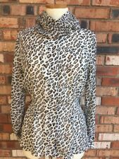 Petite Sophisticate Womens Sz 8 Career Casual Animal Print Leopard Shirt Sheer