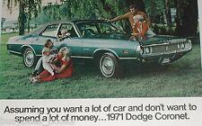 1971 Dodge ad, Dodge Coronet