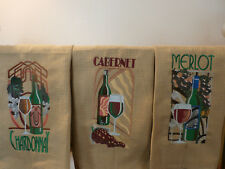 E-Bay's Embroidery Diva: Art Deco Bottles of Wine, Merlot, Chardonnay, Cabernet