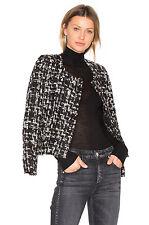 IRO nalokie boucle tweed jacket blazer in black / white - 44 or 12