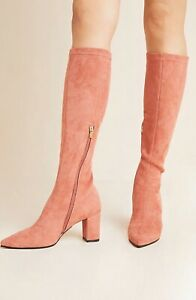 ANTHROPOLOGIE SILENT D KOMASS COMESS MICRO SUEDE KNEE BOOTS SHOES EARTH 40 9 M