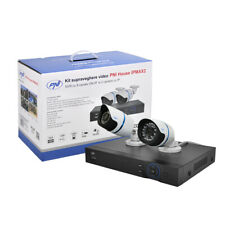 Kit de videovigilancia PNI House IPMAX2  NVR 12CH 960P ONVIF y 2 IP 720P