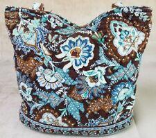 VERA BRADLEY Java Blue Floral Purse Bag RETIRED 2005 Blue Brown White Teal USA
