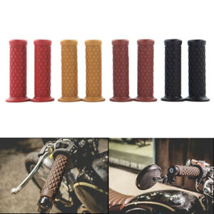 Motorcycle 7/8'' 22MM Universal Retro Hand Grips Handlebar Soft Rubber Bar End