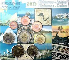 Griechenland 3,88 Euro 2013 Stgl. KMS Mykonos 1 Cent bis 2 Euro im Blister