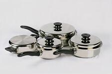 Batterie de cuisine 7 pièces haut de gamme garantie 30 ans icook amway inox
