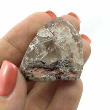 Amphibole Quartz Crystal Specimen 180604 33mm Polished Large Palm Stone Crystal