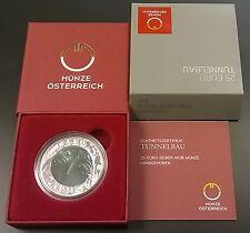 Münze Österreich  Silber Niob Tunnelbau 25 Euro 2013  Eiamaya
